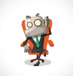 businessman on phone vector image