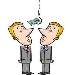 Businessmen and money bait vector