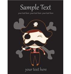 children pirate vector image vector image