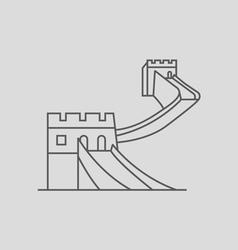 China wall vector