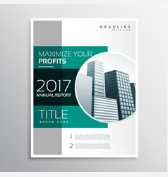Company annual report business brochure design vector