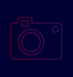 digital camera sign line icon with vector image vector image