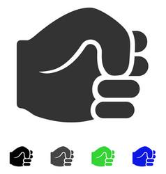 Fist flat icon vector