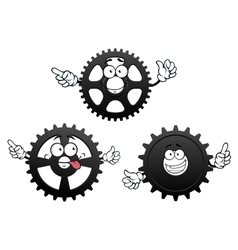 Funny cartoon cogwheels gears and pinions vector image vector image