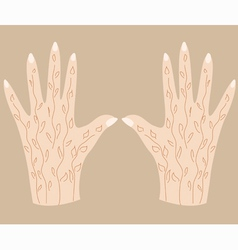Hands with henna 3 vector