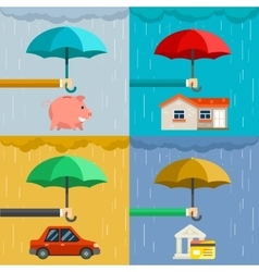 Insurance concept security of property in flat vector