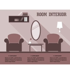Living room interior infographic vector