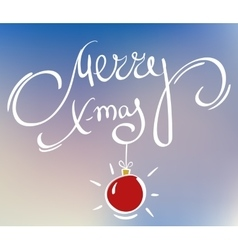 Merry xmas doodle vector
