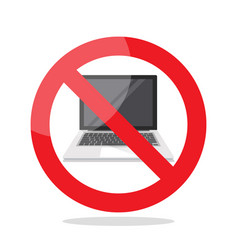no laptop sign vector image vector image