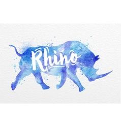 Painted animals rhino vector