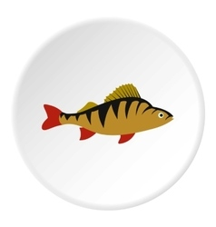 Perch fish icon flat style vector image vector image