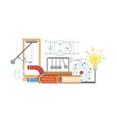 Physics Class Set Of Objects vector image