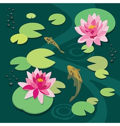 Quiet pond vector