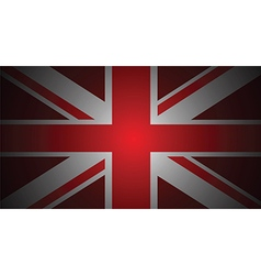 red uk flag vector image