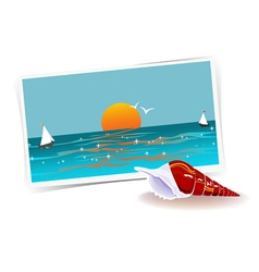 Remembering of vacations vector