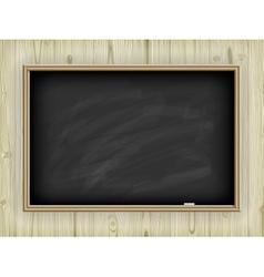 School board on wooden background vector image