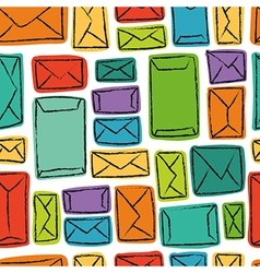 seamless pattern - many colorful envelopes vector image vector image