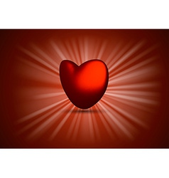 Shining Heart vector image vector image
