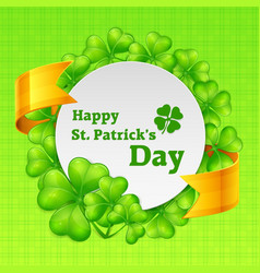 st patricks day round vector image vector image