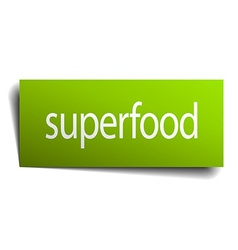 Superfood square paper sign isolated on white vector
