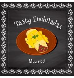 tasty enchiladas vector image vector image