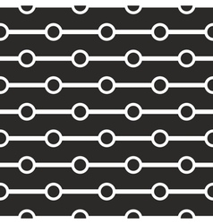 Tile black and white geometric pattern background vector image vector image