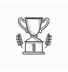 Trophy sketch icon vector image