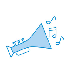 trumpet musical instrument with notes vector image