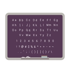 Abc latin alphabet on the blackboard vector