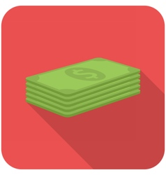 Stack of paper money vector