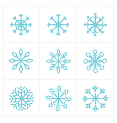 Christmas snow icon set vector