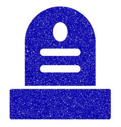 grave stone icon grunge watermark vector image