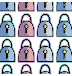 Color padlock security tool service background vector
