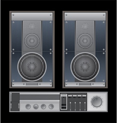 Old sound system vector