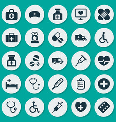 Antibiotic icons set collection of rhythm vector