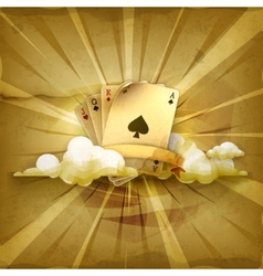 Playing cards old style background vector