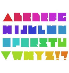 Square alphabet vector