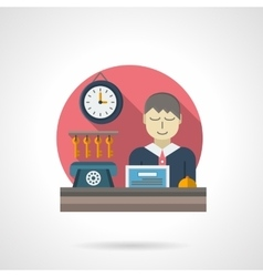 Reception detail flat color icon vector