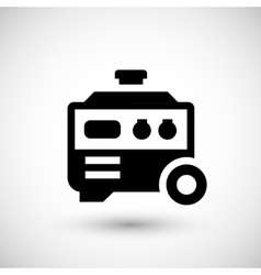 Electric generator icon vector