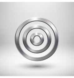 Abstract technology circle metal badge vector