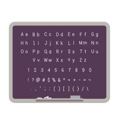 Abc latin alphabet on the blackboard vector