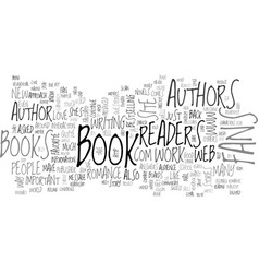 Are readers important to authors text word cloud vector