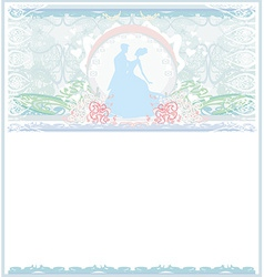 Ballroom wedding couple dancers - invitation vector