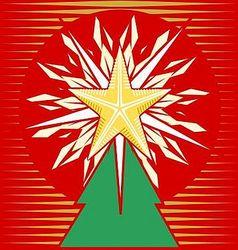 Blazing treetop star vector