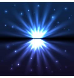 Bright blue explode vector