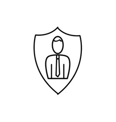 business protection icon vector image