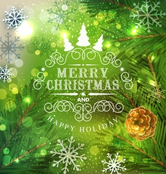 Christmas festive background with Christmas tree vector image