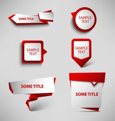 Collection red web pointers design template vector image vector image