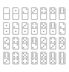 dominoes icon set symbol vector image vector image