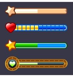 Energy progress game bar set vector image vector image